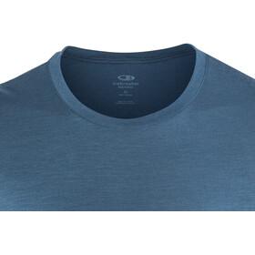 Icebreaker M's Tech Lite SS Crewe Shirt Prussian Blue